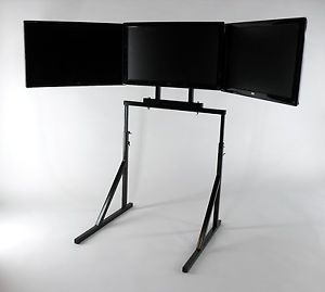 "Triple Monitor Mount Stand Supports 27"" Monitors"