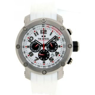 TW Steel TW603 A1GP Collection 45mm White Dial Chrono Mens Watch Fast Shipping