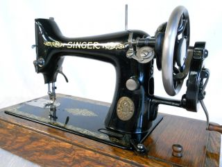 "The Superb "" Singer 99K "" Heavy Duty Hand Operated Leather Sewing Machine"
