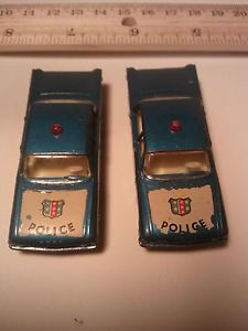 2X Vintage Lesney Number 55 59 Ford Fairlane Police Car Fire Chiefs Car