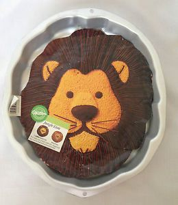 Lion Wilton Cake Pan Number 2105 2095 Jungle Lion with Insert