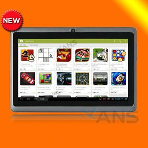 "Black 8GB 7"" Google Android 4 1 Capacitive Multi Touch A13 WiFi 3G PC Tablet Mid"