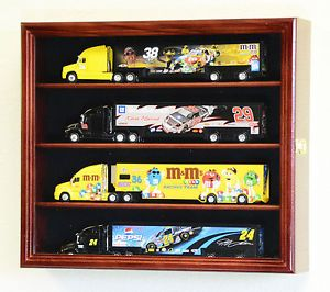 1 64 Scale Hot Wheels Semi Big Rig Trailer Truck Display Case Cabinet Holds 4