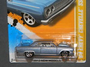 HW Hot Wheels 2012 New Models 2 50 '64 Chevy Chevelle SS Hotwheels Light Blue