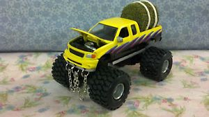 1 64 Custom Lifted Ford F150 Pulling Truck Custom Paint Chains Farm Toy Truck