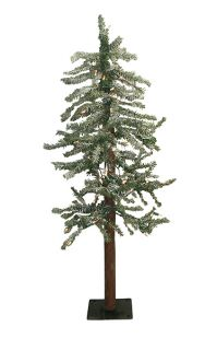 4' Pre Lit Frosted Alpine Artificial Christmas Tree CLR
