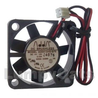 ADDA 40mm x 10mm 12 Volt High Speed Mini 2 Pin Fan Free s H