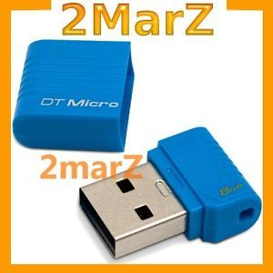 Kingston DT Micro 8GB 8g USB Pen Drive Nano Disk Car Mobile Audio Netbook Blue