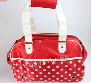 Fantasy Bubble Nylon Pet Carrier Tote Bag for Dog Puppy Cat Red Fashion Sturdy