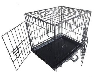 "Pet Dog Puppy Training Cage Crate Carrier Vet Style 24"" 30"" 36"" 42"" 48"" All Size"