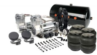Viair 480C Chrome Dual Kit w 5 Gallon Tank Air Lift Dominator 2600 Bags