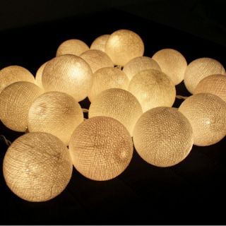 White Ball String Lights Party Patio Fairy Decor Christmas Wedding Spa 20pc