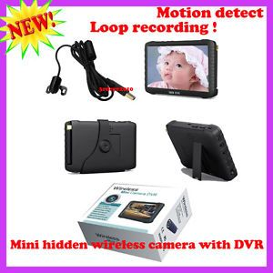 Wireless Security System Mini DVR Spy Camera Loop Recording Motion Detect