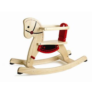 wooden rocking horse by toys of essence