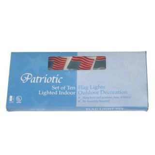 Patriotic American Flag String Light Set USA Americana Lights