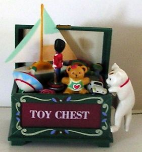 Vintage Christmas Mini Music Box Sailboat Train Cat Car Teddy Bear Toy Soldier