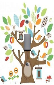 Light Switch Plate Outlet Covers Treetop Friends Owl Birds in Tree