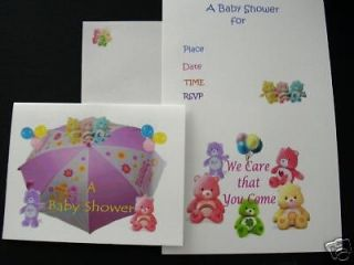 Care Bear Baby Shower Invitations