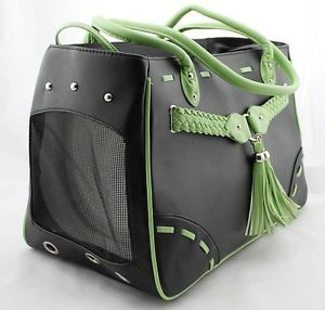 Luxury Comfort Dog Carriers for Small Dog Airline Carrier Dog Bags Pet Bag Green