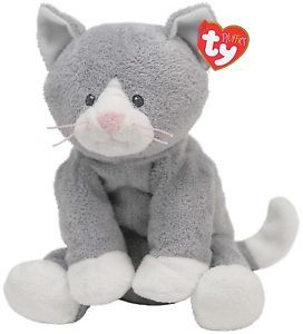 Pursley The Cat Ty Pluffies Soft Toy Plush Teddy Baby