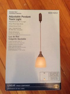 Hampton Bay Adujstable Pendant Track Light Shade Bulb Included