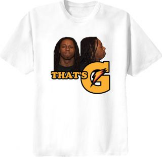 Lil Wayne Rapper That's G Gatorade Mug Shot T Shirt