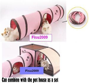 Foldable Cat Kitten Pet Tunnel Toy House Bed