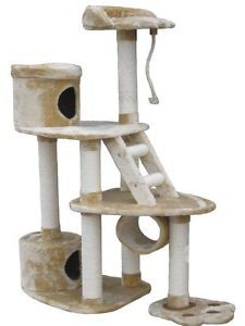 "59"" Cat Tree House Toy Bed Scratcher Post Furniture F37"