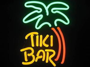 Tiki Bar Palm Tree Neon Light Sign for Man Cave Bar Wall or Tabletop Mount New
