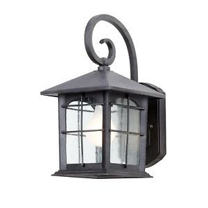 Hampton Bay Wall Mount 1 Light Outdoor Aged Iron Lantern