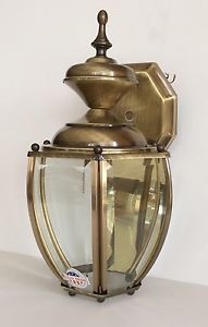 Troy Lighting Outdoor Wall Mount Light Antique Brass Lantern