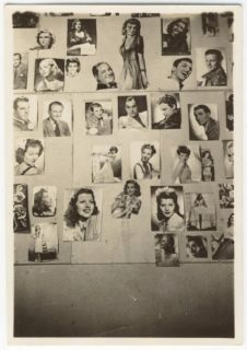 Snapshot Wall of 1940s Film Star Pin UPS Photographs WWII Era Movie Fanatic