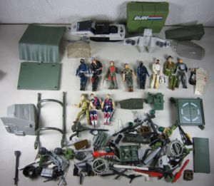 Lot 1980s Vintage Gi Joe Figures Parts Weapons Accessories Vehicles