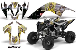 AMR Racing Graphic ATV Wrap Off Road Decal Kit Yamaha Raptor 700 Iron Maiden K