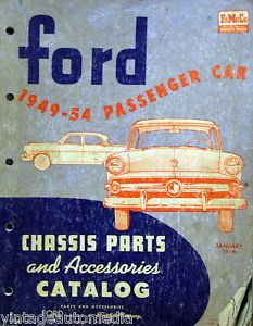 1949 54 Ford Passenger Car Chassis Parts Accessories Catalog January 1956