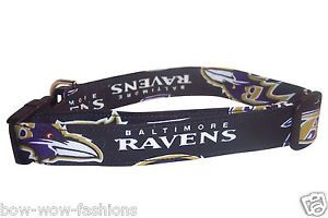 Baltimore Ravens Football Dog Puppy Cat Collar XS SM Med LG XL 4' 5' 6' Leash
