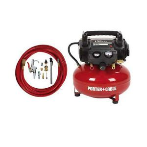Porter Cable 6 Gallon Pancake Air Compressor and Accessory Kit C2002 WKR