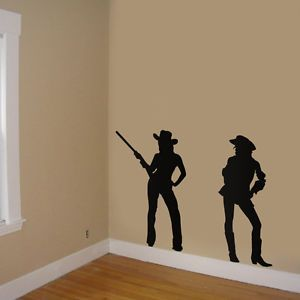 Cowboy Girl Decals Cowgirl Stickers Room Decor Room Decor Silhouettes Cowgirl