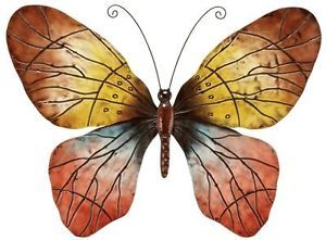 Large Contemporary Metal Butterfly Wall Hanging Insect Accent Art Decor Plaque