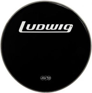 "Ludwig 22"" Weather Master Black Heavy Weight Bass Drum Logo Head"