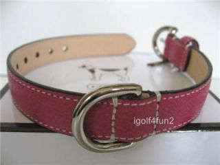 Coach Dog Collar Small Pink