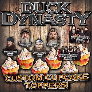 Duck Dynasty Cutout Cupcake Toppers Supplies Favors Decorations Birthday Party