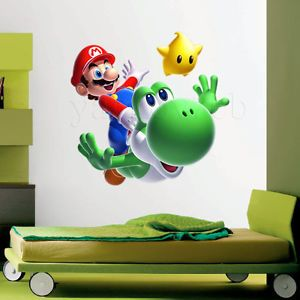 Very Huge Super Mario Galaxy 2 Giant Yoshi Wall Stickers Mural Room Decor Decal