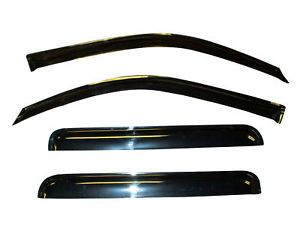 Vent Window Visors Shades Shade Visor Rain Guards for Chevy Silverado Ext Cab