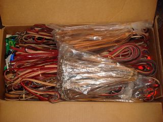 Wholesale Lot 1000 Leather Nylon Dog Leashes Collars