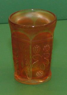 Carnival Glass Fenton Marigold Butterly and Berry Water Juice Glass Cup