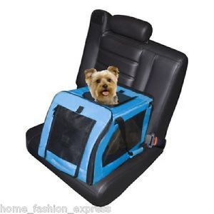 Signature Pet Dog Cat Car Seat Carrier Car Van SUV Capacity 20 lbs Pet Gear New