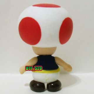 "Action 3""1 2 Red Toad and Toadette New Super Mario Brothers Action Figure"