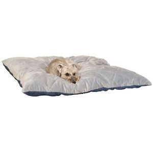 KH Mfg Heated Quilted Thermo Indoor Washable Dog Cat Pet Bed Blue Gray Small