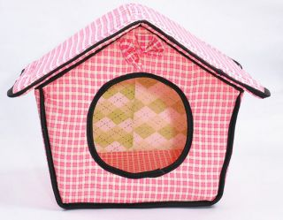 Cute Size Soft Pet Dog Cat Sleeping Bed Kennel House Doggy Warm Cushion Basket